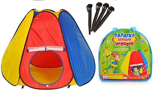 """Детская палатка М 0506, палатка для детей """"Пирамида"""" , 144 х 204 х 104 см"""