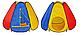 """Дитячий намет М 0506, намет для дітей """"Піраміда"""" , 144 х 204 х 104 см, фото 5"""