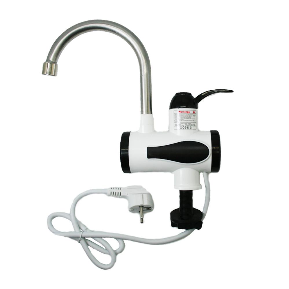 Проточный Водонагреватель электрический кран для воды мгновенный нагрев  нижнее подключение белый