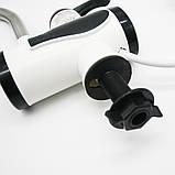 Проточный Водонагреватель электрический кран для воды мгновенный нагрев  нижнее подключение белый, фото 5