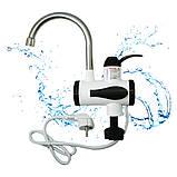 Проточный Водонагреватель электрический кран для воды мгновенный нагрев  нижнее подключение белый, фото 7