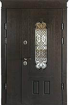 Двери уличные, PRESTIGE 1170*2050, модель 21-65, Полимерные накладки, стеклопакет, ковка
