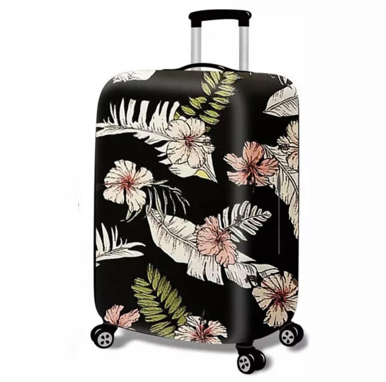 Чехол на большой чемодан L Size тропики цветы