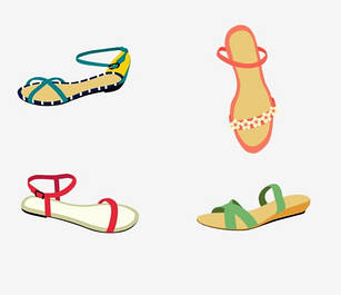 Босоножки, сандалии на низком ходу