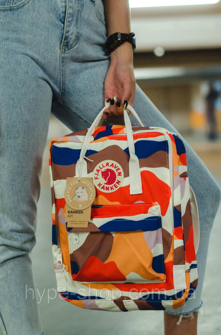 Рюкзак Fjallraven Kanken Classic 16l Fable Camo портфель рюкзак канкен класік камуфляжий канкен класик камо
