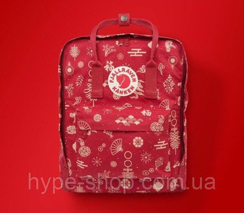 Рюкзак Fjallraven Kanken Classic 16l Fable red портфель рюкзак канкен класік червоний канкен класик красный