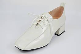 Туфли оксфорды женские Geronea 1072 40 Перламутровые на каблуке кожа