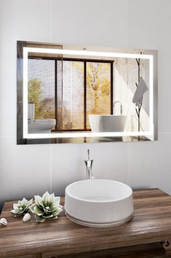 Дзеркала з ЛЕД підсвіткою, дзеркало вологостійке для ванної кімнати, дзеркала настінні, Дзеркала вологостійкі для