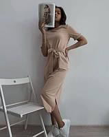 Довге літнє плаття під пояс