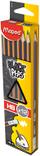 Олівець графітовий BLACK PEPS HB з гумкою( MP.851721) MAPED ( MP.851721), фото 2