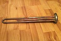 Тэн для бойлеров Thermex 1300W из МЕДИ (на фланце Ø63мм) c 2 трубками под термодатчики      FER, Турция