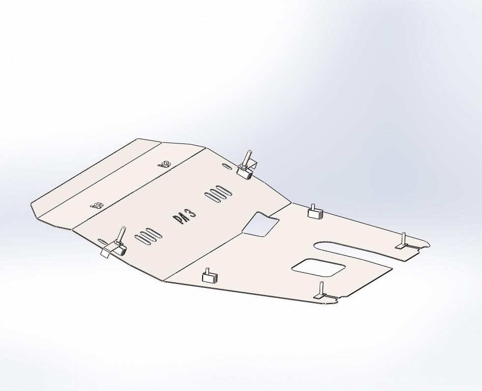 Защита ВАЗ LADA LARGUS   ( с 2012 - - ) Все Объёмы
