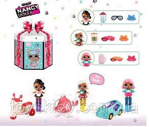 Ігровий набір NC2427 (108шт 2) 3вида, в наборі лялечка+транспорт+аксесуари, в подарунковій коробці