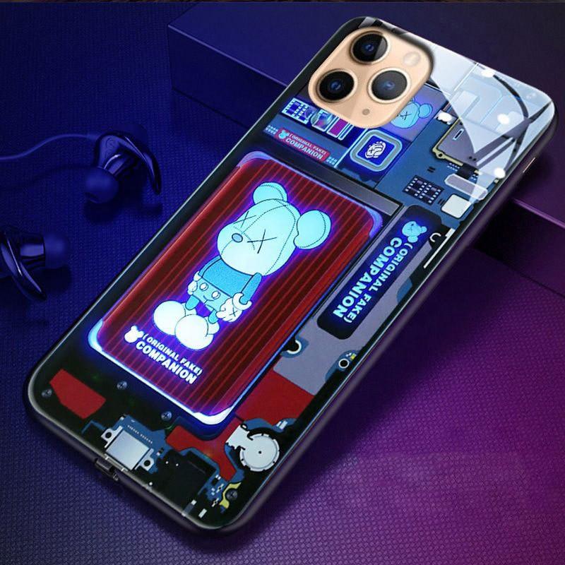 Led чохол для iPhone 7+/8+/X/XS/XS max/11/11pro/11pro max/12Mini/12/12pro зі світлодіодним підсвічуванням