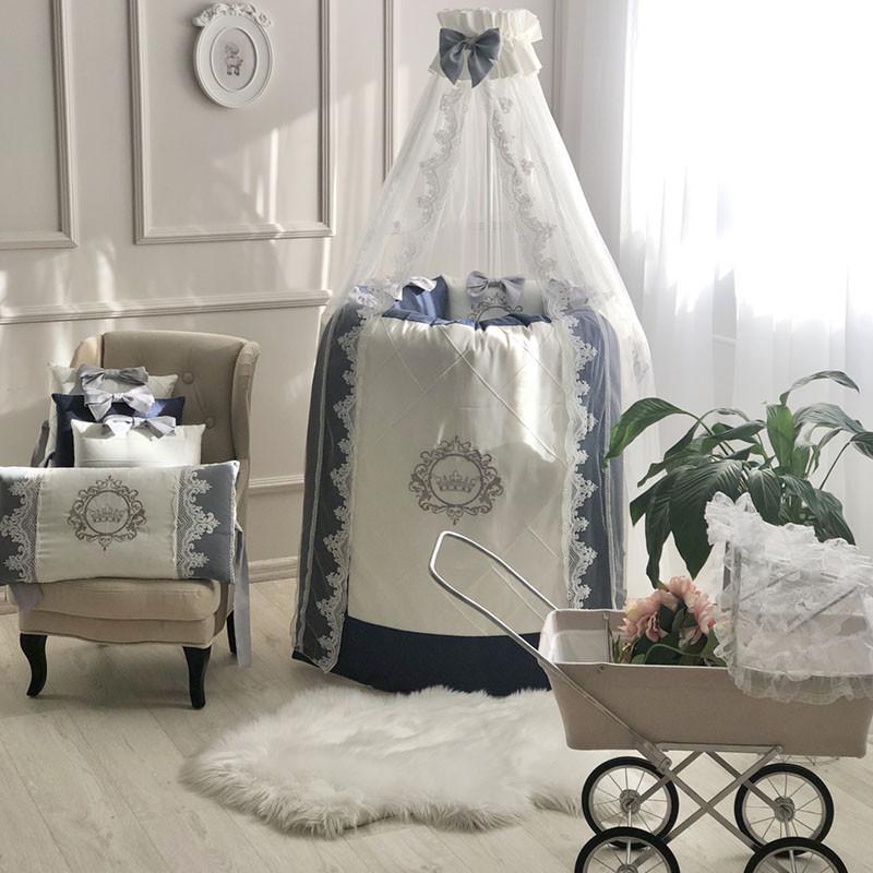 Комплект дитячої постільної Elegance синій овал 0145183