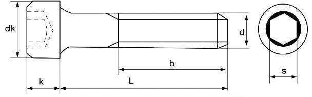Чертеж винта М24 с мелким шагом резьбы