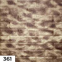 Декоративна самоклеюча 3Д панель для стін 700*700*5 мм. під мрамор фактура цегли