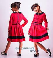 Детское платье длинный рукав для девочки