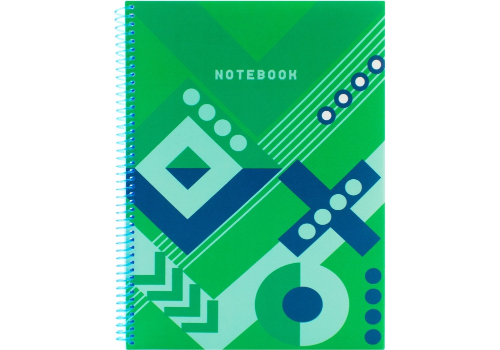 "Блокнот ""Knitting: Green"", A4 (2ruits″ А4 (285х230мм), спираль, 80 стр., клетка Optima  ( O20846-21)"