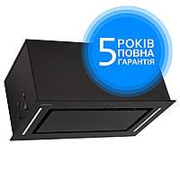 Витяжка вбудовувана кухонна ELEYUS GEMINI 800 LED 52 BL (чорна) , фото 1