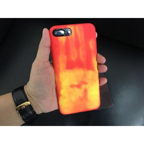 Накладка для iPhone 6/6s силикон Heat Sensitive Leather back case Devia Red
