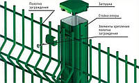 Столб для крепления секционных ограждений 2,0 м