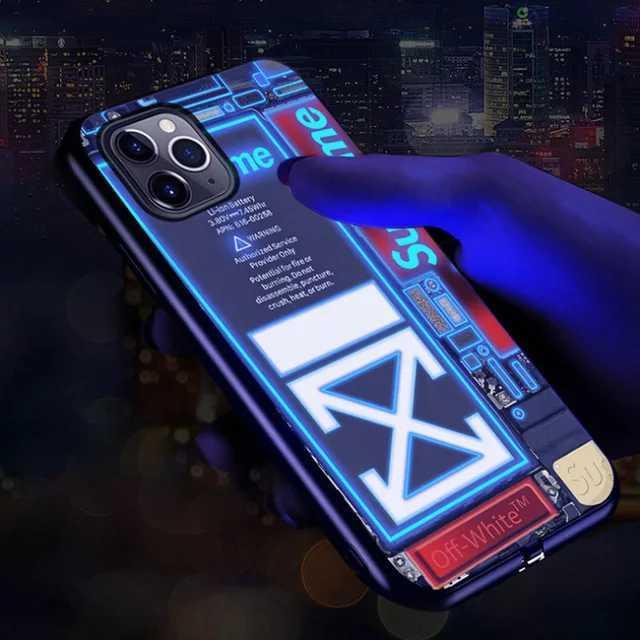 Led чохол для iPhone X/XS/XS max/XR/11/11pro/11pro max/12/12pro світиться зі світлодіодним підсвічуванням