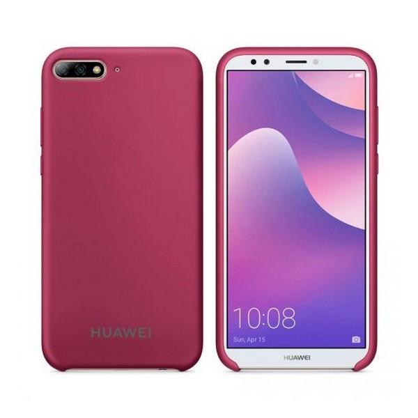 Накладка для Huawei Y6 2018 Prime/Honor 7A Pro силікон Original Soft Case Бордо