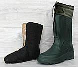 Чоботи чоловічі зимові легкі для риболовлі зеленого кольору (Пр-1551н), фото 2