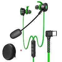Проводные игровые наушники Type-C  (1.2м) вакуумная геймерская стерео гарнитура со съёмным микрофоном для, фото 1