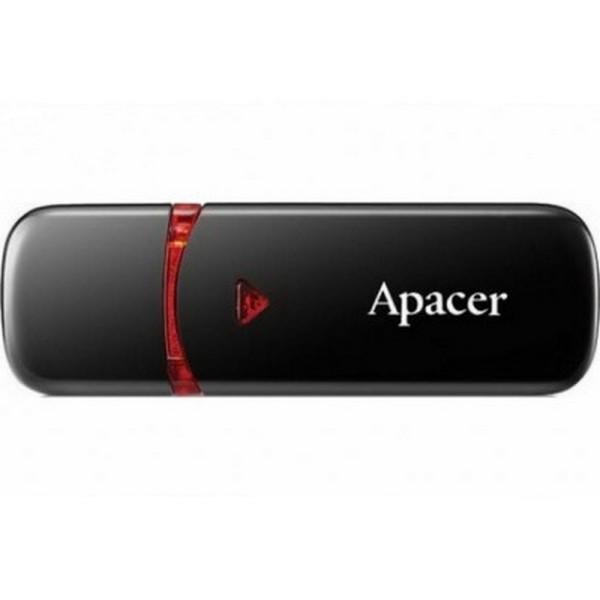 Флеш пам'ять 64GB USB2.0 Apacer AH333 Black AP64GAH333B-1