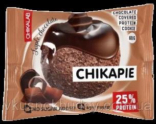 Протеиновое печенье Chikalab CHIKAPIE Тройной Шоколад (60 грамм )