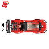 Конструктор спортивна машина червона з фігурками для хлопчиків 198 деталей Qman 14012 (48шт), фото 3