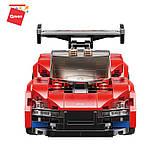 Конструктор спортивна машина червона з фігурками для хлопчиків 198 деталей Qman 14012 (48шт), фото 4