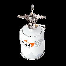 Газовая горелка Kovea Titanium KB-0101 с пьезоподжигом и клапаном для регулировки мощности пламени