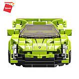 Конструктор спортивна машина Lamborghini VNO-12 Ламборгіні для хлопчиків 292 деталі Qman 14021 (18шт), фото 4