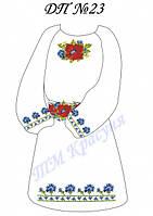 Заготовка платья детского под вышивку