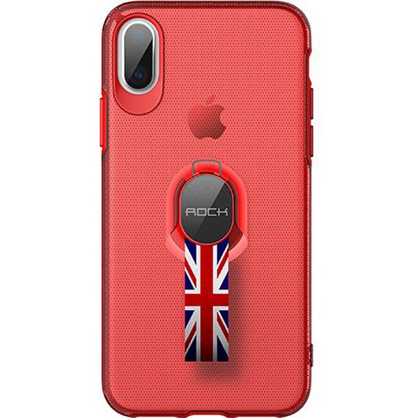 Чехол-накладка Rock TPU+PC MOC Pro Series Protection Case Apple iPhone X Trans-Red (bz_F_69289)