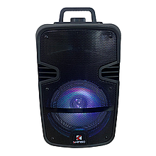 Переносна портативна Колонка 1000w Bluetooth KIMISO QS-602\2 + 1 мікрофон