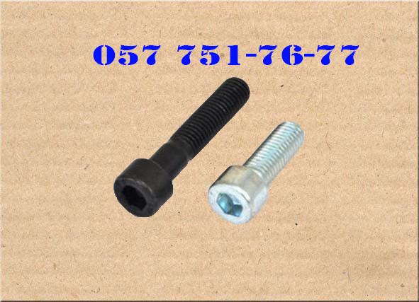 Винт М24 DIN 912, ISO 12474 с мелким шагом резьбы и внутренним шестигранником, класс прочности 12.9   Фотографии принадлежат предприятию Крепсила