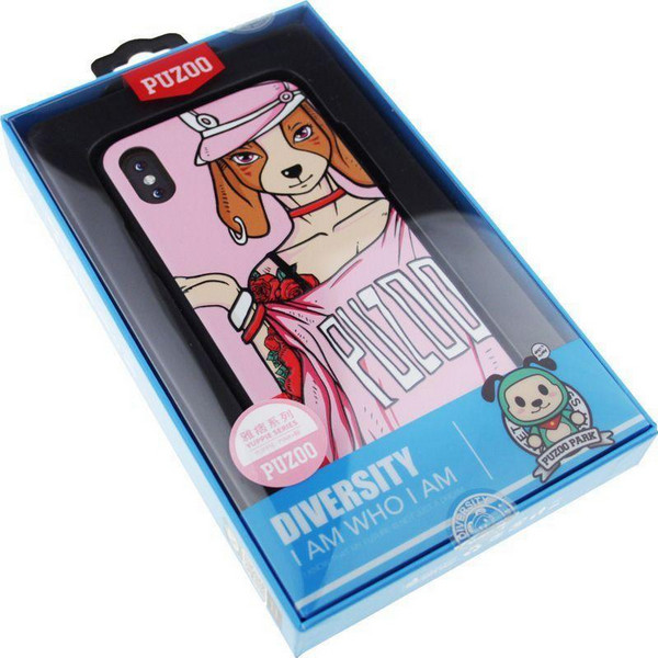 Чохол-накладка PUZOO Yuppie Phone Apple iPhone X Annie Pink bz_F_58722