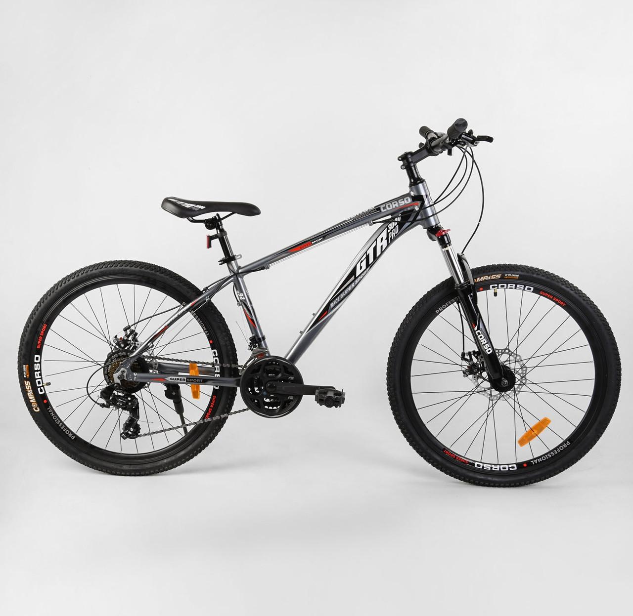 """Велосипед Спортивный CORSO «GTR-3000» 26"""" дюймов 91428 черный 04735"""