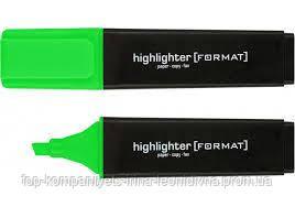 Текст-маркер FORMAT, зелений (12шт/уп)