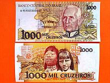Бразилія 1000 крузейрос 1990 UNC №226