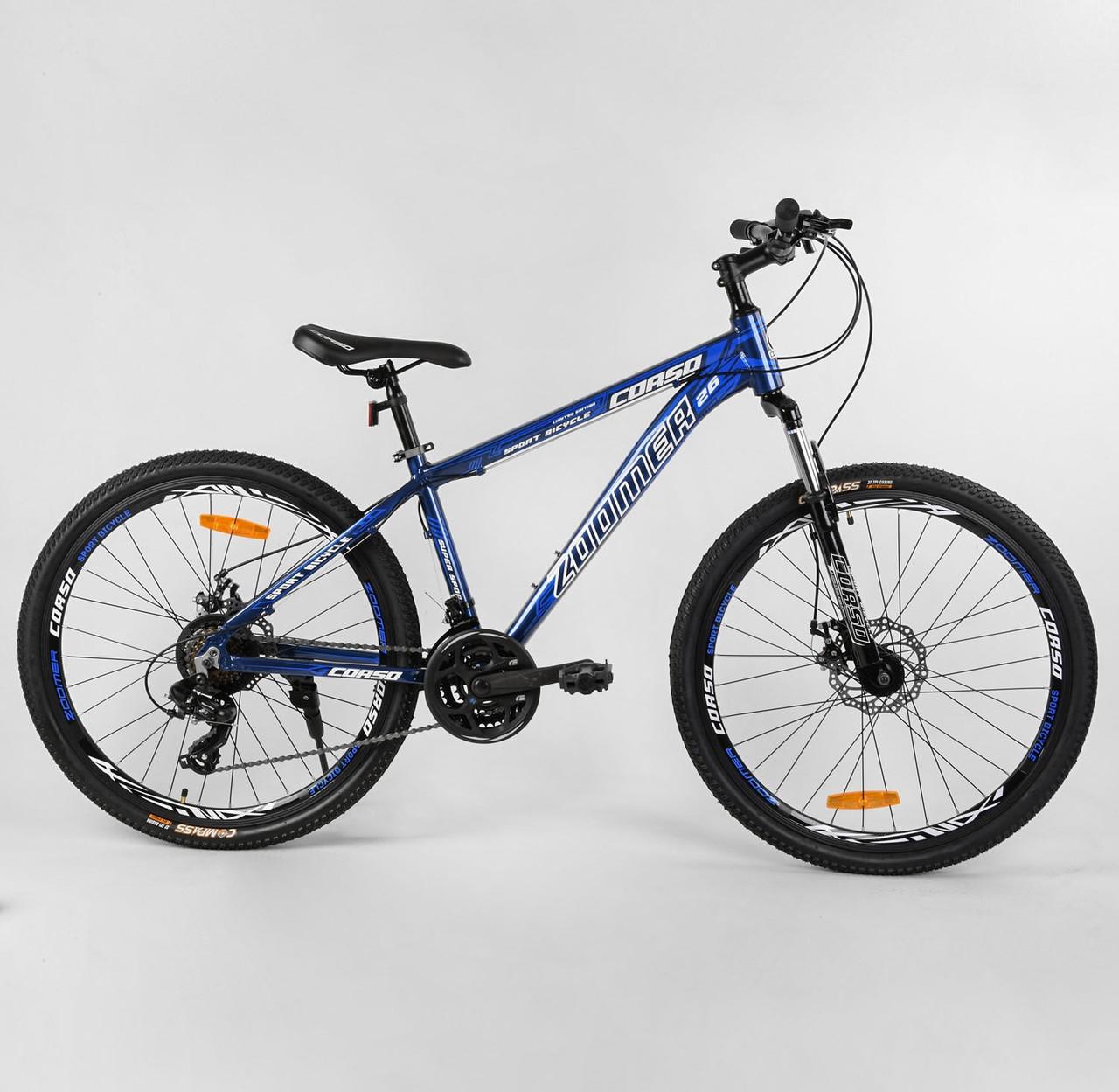 """Велосипед Спортивный CORSO «Zoomer» 26"""" дюймов 39766 синий 04756"""
