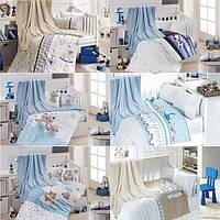 """Детское постельное белье в кроватку с пледом Турция """"Baby Pudra Бамбук First Choice (для мальчика)"""