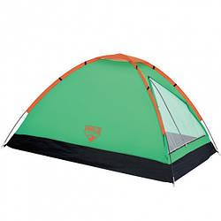 Палатка туристическая двухместная Bestway 68040 Monodome 145x205x100 см Green 003744 ES, КОД: 1752343