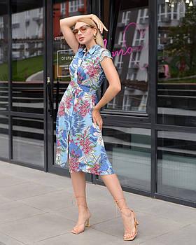 Яркое летнее платье из штапеля 6-901