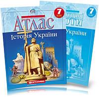 Атлас и контурная карта 7 класс История Украины Картография