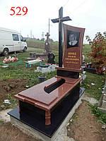 Памятник с крестом из лезниковського гранита, фото 1